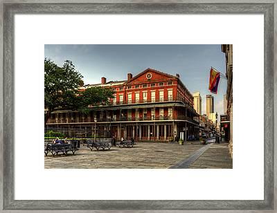 Upper Pontalba Building Framed Print