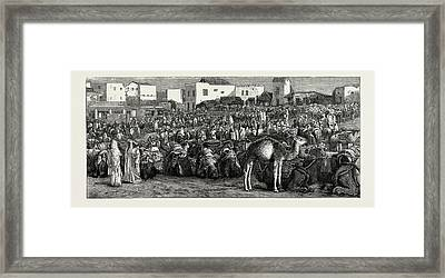 Upper Soko Or Market Place, Tangier, Morocco Framed Print by Litz Collection