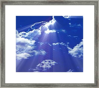 Framed Print featuring the photograph Upper Stories by Kellice Swaggerty