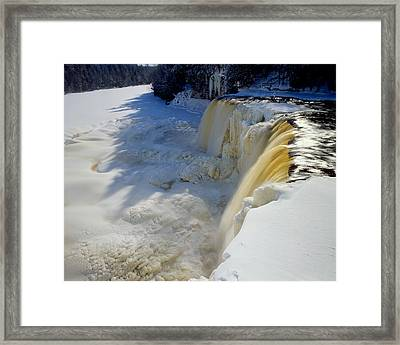 Upper Tahquamenon Falls Framed Print by Tim Hawkins