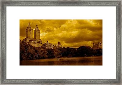 Upper West Side And Central Park Framed Print