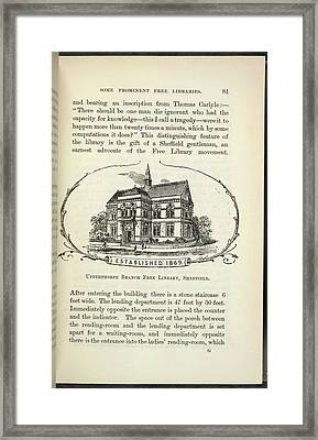 Upperthorpe Branch Free Library Framed Print by British Library