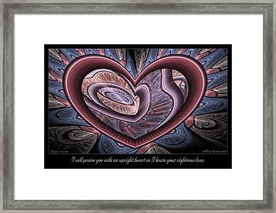 Upright Heart Framed Print
