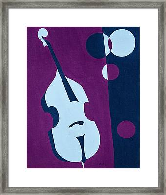 Upright Jazz Framed Print by Brian Broadway