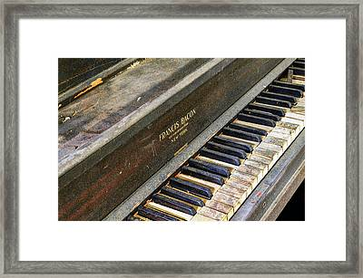 Upright Piano Framed Print