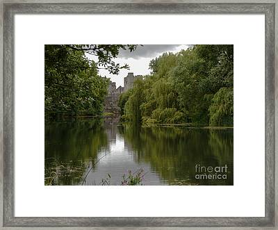 Upriver From Cahir Castle Framed Print by Winifred Butler
