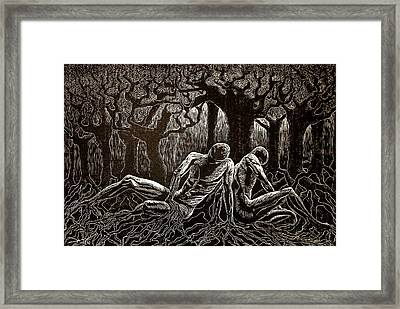 Uprooted Framed Print by Maria Arango Diener