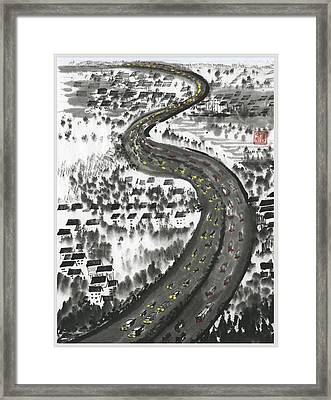 Framed Print featuring the painting Ups And Downs by Ping Yan
