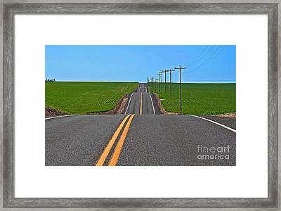 Ups And Downs  Framed Print