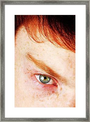 Upset Teenager Framed Print by Cordelia Molloy