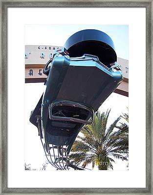 Upside Down Car Framed Print