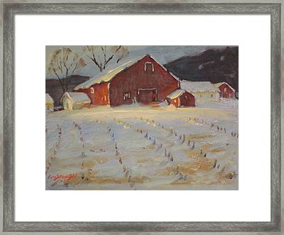 Framed Print featuring the painting Upstate by Len Stomski