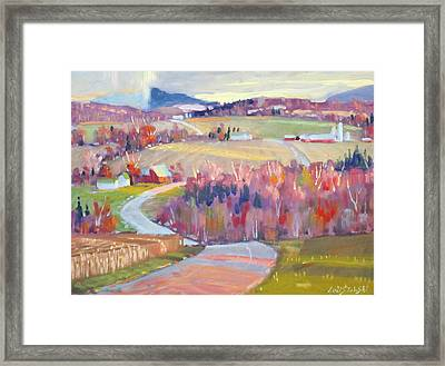 Upstate N Y Framed Print