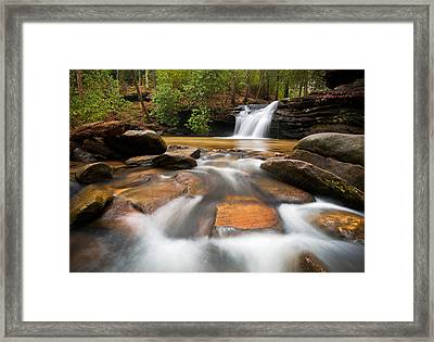 South Carolina Blue Ridge Mountains Waterfall Nature Photography  Framed Print by Dave Allen