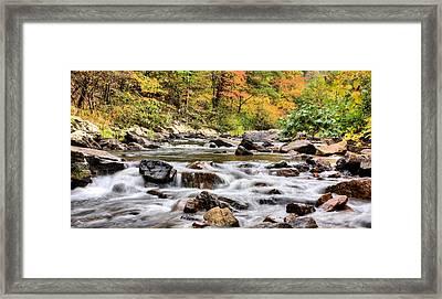 Upstream Framed Print by JC Findley