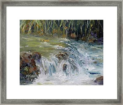 Upstream Framed Print by Marie Green