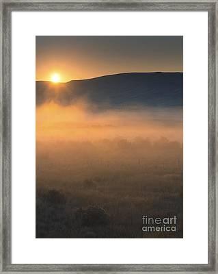 Uptanum Dawning Framed Print by Mike  Dawson