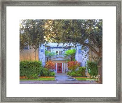 Uptown Apartments Framed Print