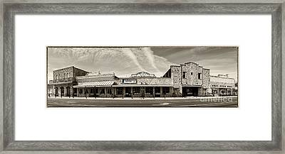 Uptown Blanco Panorama In The Texas Hill Country Framed Print by Silvio Ligutti