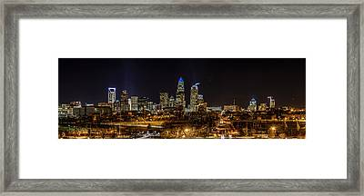 Uptown Charlotte Panorama Framed Print