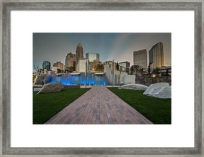 Framed Print featuring the photograph Uptown Charlotte by Serge Skiba