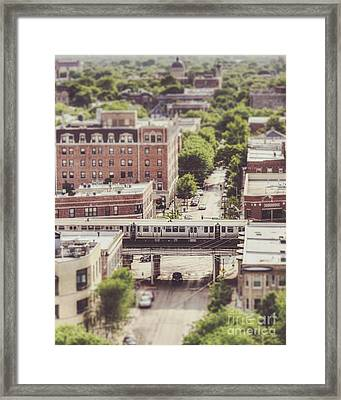 Uptown Chicago L Framed Print by Emily Kay