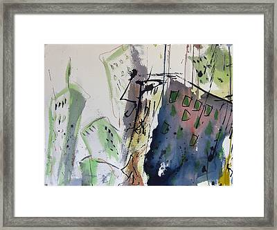 Framed Print featuring the painting Uptown by Robert Joyner