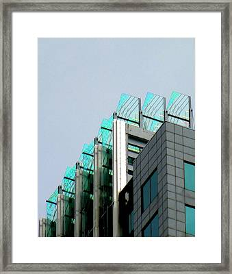 Uptown Rooftop Framed Print by Randall Weidner
