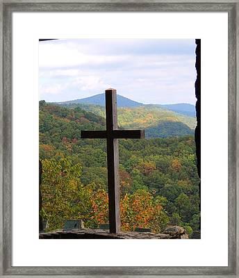 Upward Framed Print by Judy  Waller