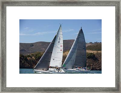 Upwind To The Gate Framed Print by Steven Lapkin