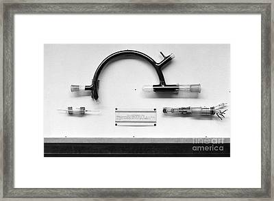 Uranium Separation Equipment, 1950s Framed Print by Emilio Segre Visual Archives/american Institute Of Physics