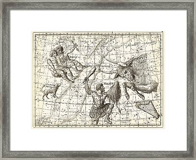 Uranographia Constellations, 1801 Framed Print by Science Photo Library