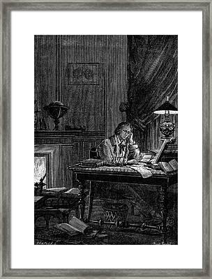 Urbain Jean Joseph Leverrier Framed Print