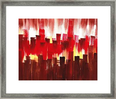 Urban Abstract Evening Lights Framed Print by Irina Sztukowski
