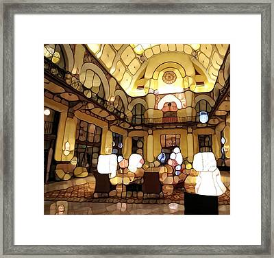 Urban Abstract Hotel Lobby Framed Print