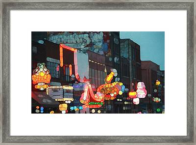 Urban Abstract Nashville Neon Framed Print by Dan Sproul