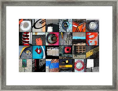 Urban Abstracts Top 24 Framed Print by Marlene Burns