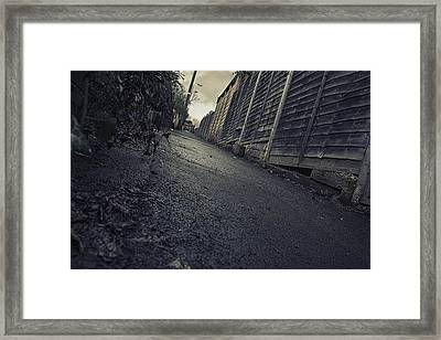 Framed Print featuring the photograph Urban Alley  by Stewart Scott