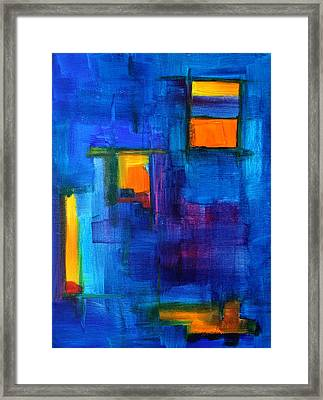 Urban Architecture Abstract Framed Print by Nancy Merkle