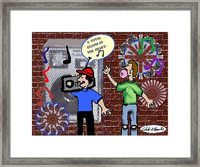 Urban Art Series 1980s Boombox Framed Print by Cibeles Gonzalez