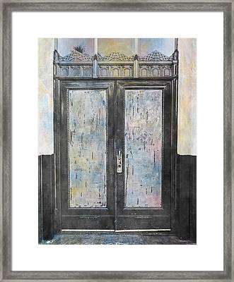 Framed Print featuring the photograph Urban Bank Doorway by John Fish