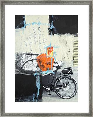 Urban Bicycle Framed Print by Elena Nosyreva