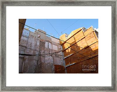 Framed Print featuring the photograph Urban Blue Sky by Linda Prewer
