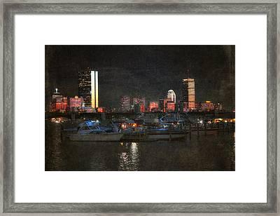Urban Boston Skyline Framed Print
