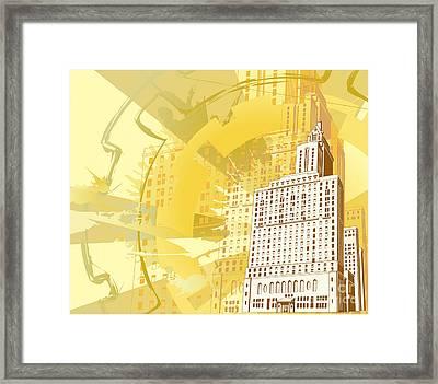 Urban Building Background Framed Print