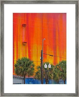 Urban Burn Framed Print