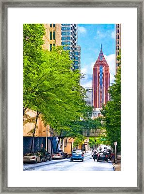 Urban Canyons Of Atlanta Framed Print