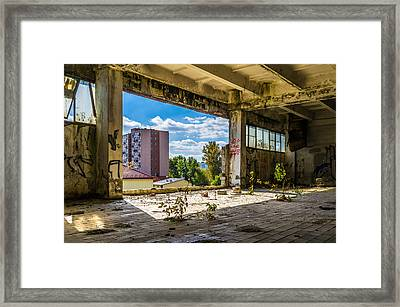 Urban Cave Framed Print