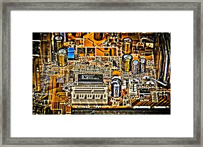 Urban Chipset Framed Print by Alex Hiemstra
