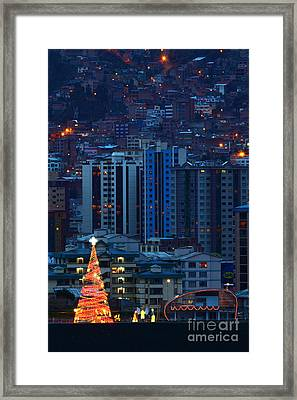 Urban Christmas Tree Framed Print by James Brunker